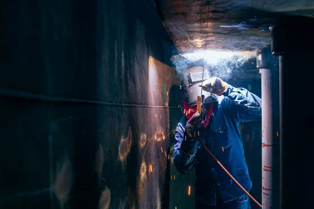 Welding in a small space without proper ventilation can be extremely hazardous.