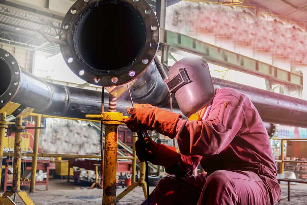 Manual pipe welding involves moving through every position of welding.