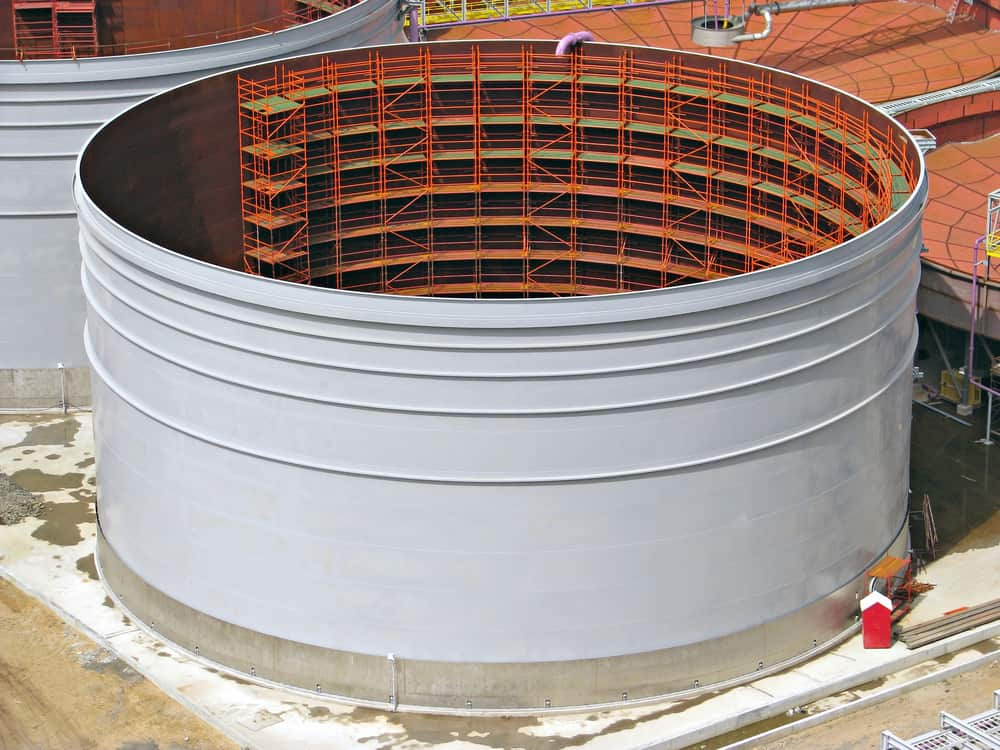 Orbital welding speeds up the welding of oil storage tanks compared to traditional methods.