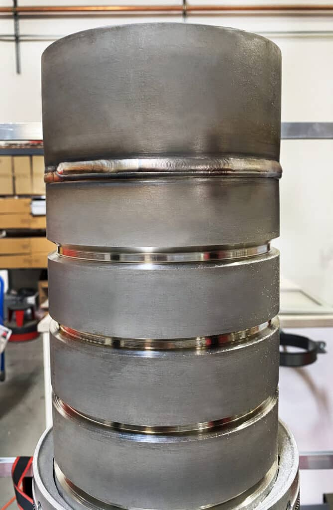 High-quality GTAW orbital weld made using Arc Machines equipment