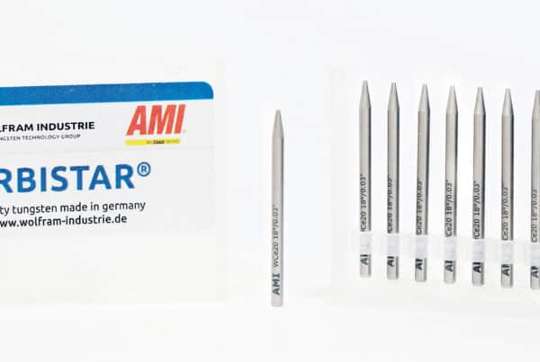AMI preground tungsten electrodes