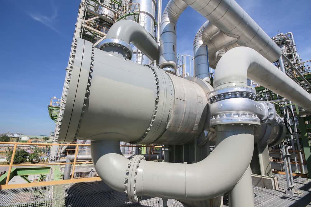 Industrial plant pressure vessel