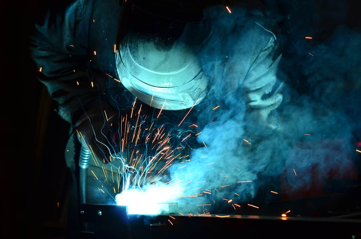 Welder faces hazards in welding activities
