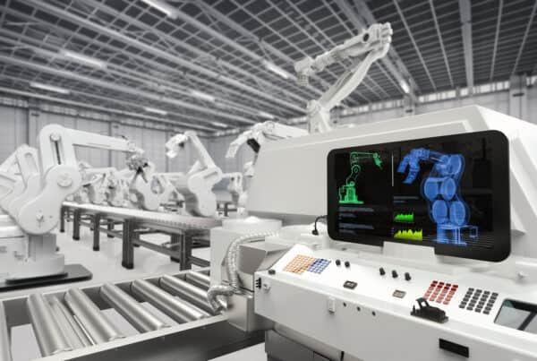 Robotic arms and automated systems in smart factories