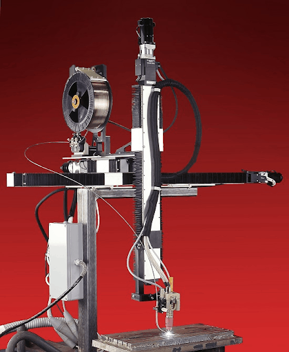 Image showing automated fixed position weld head.