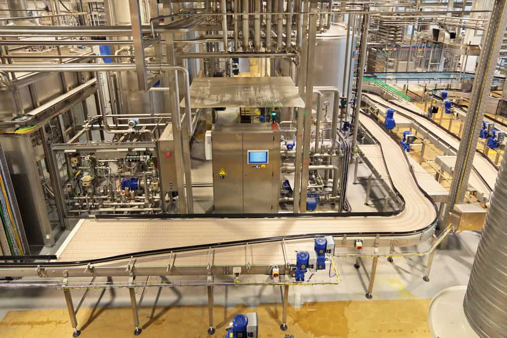 Beverage factory with hygienic welding systems