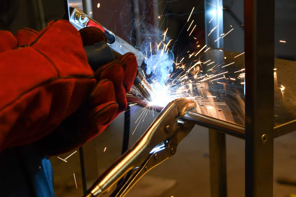 Fumes emitted while welding stainless steel