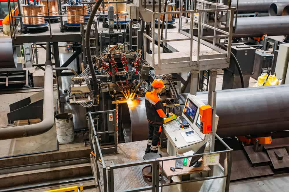 Circumferential welding process