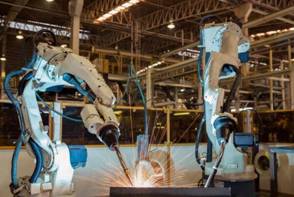 Robotic welding in manufacturing