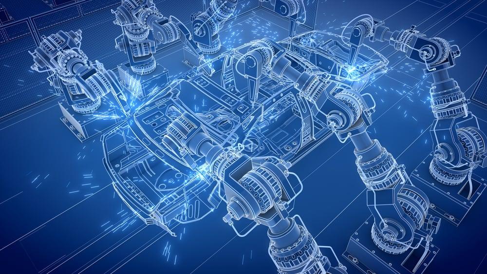 Visualization of offline robot programming software at work