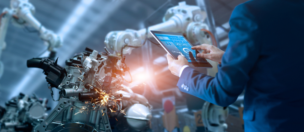 welding robot and operator display roi potential